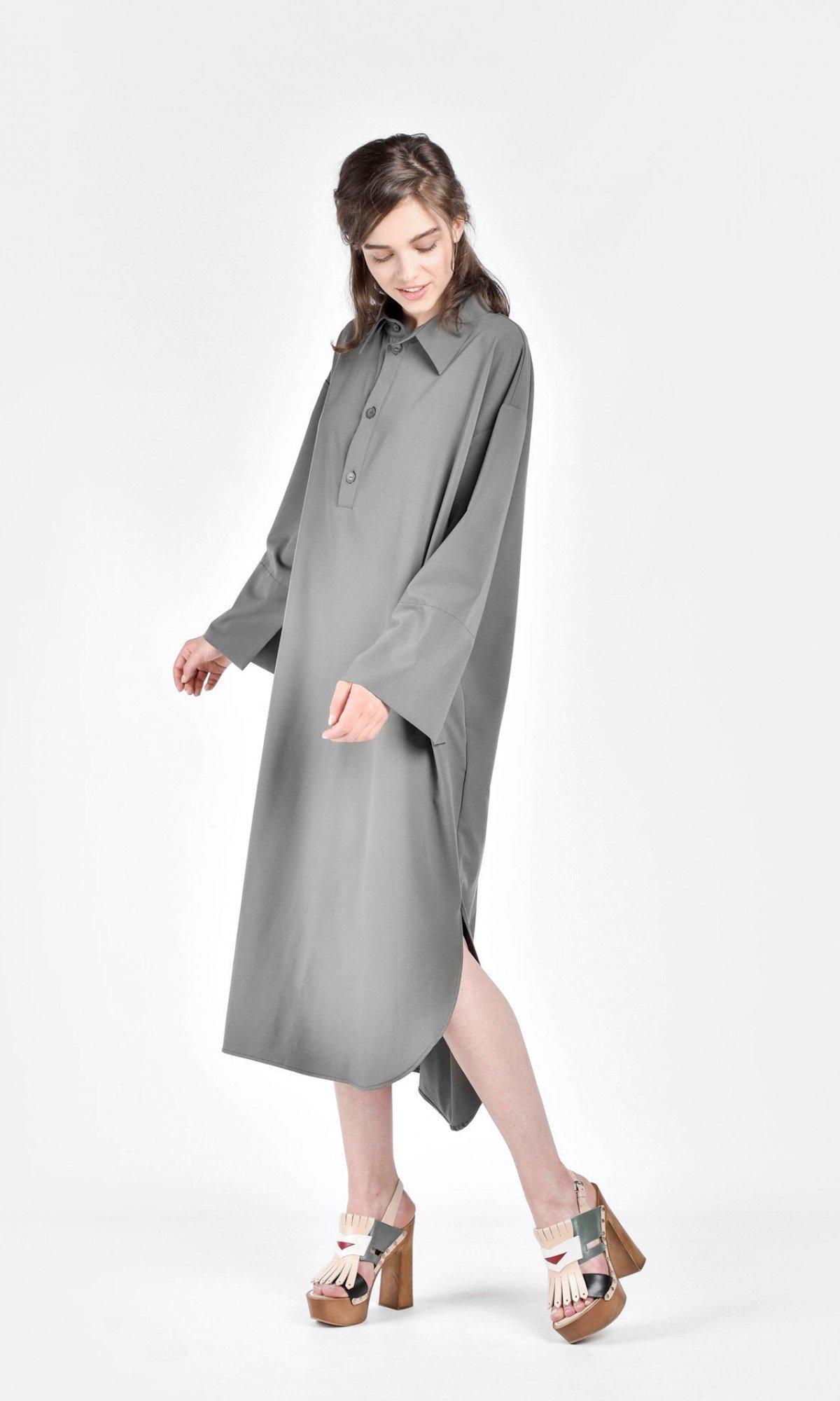 Extravagant Long Shirt Dress A11601