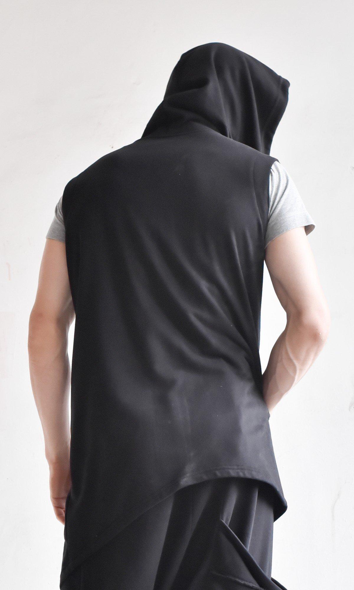 Black Tеrry Cotton Vest