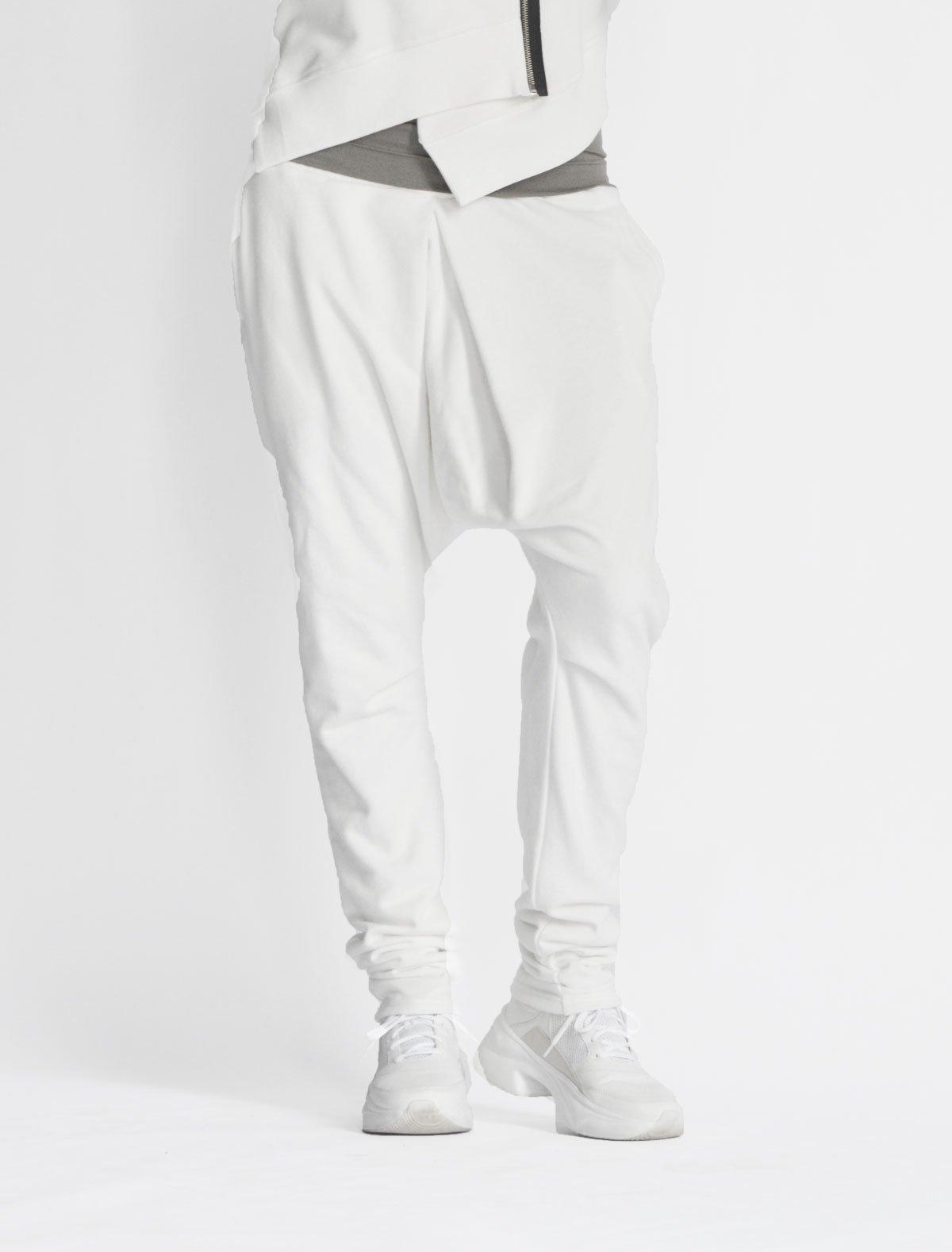 2016 Loose Casual Drop Crotch Linen Harem Pants  Extravagant Drop Crotch Linen Pants Cropped Shorts by AakashaMen A05588M