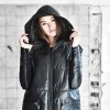 Quilted High Collar Hooded Jacket A90162
