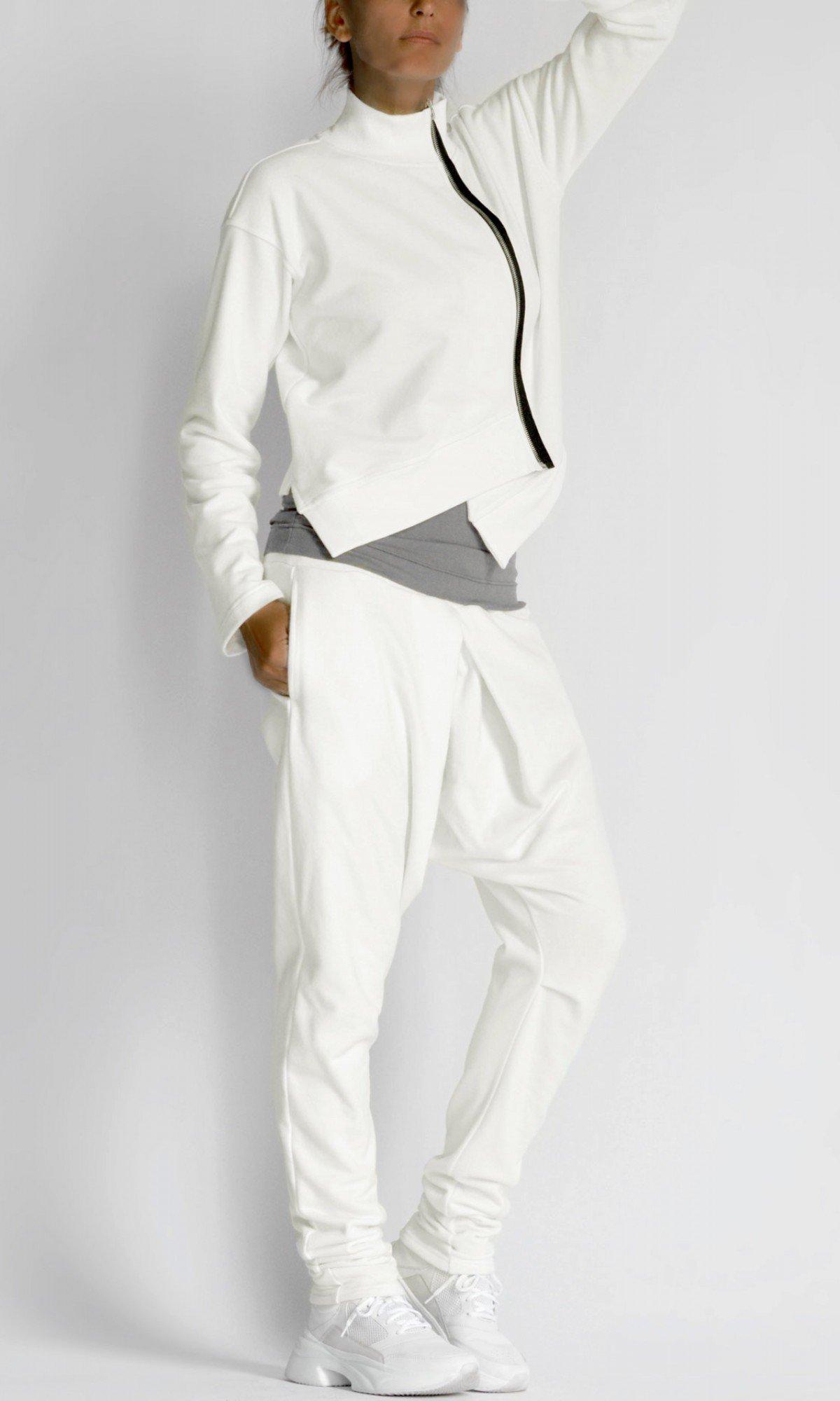 Short Asymmetric Zipper Sweatshirt