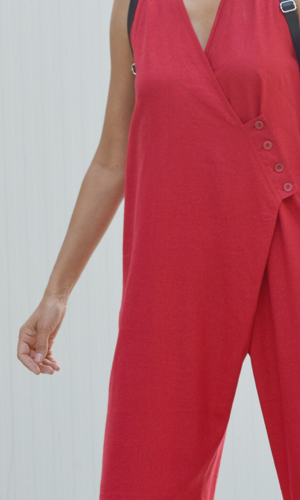 Casual Elegant Wrap Linen Jumpsuit A90506