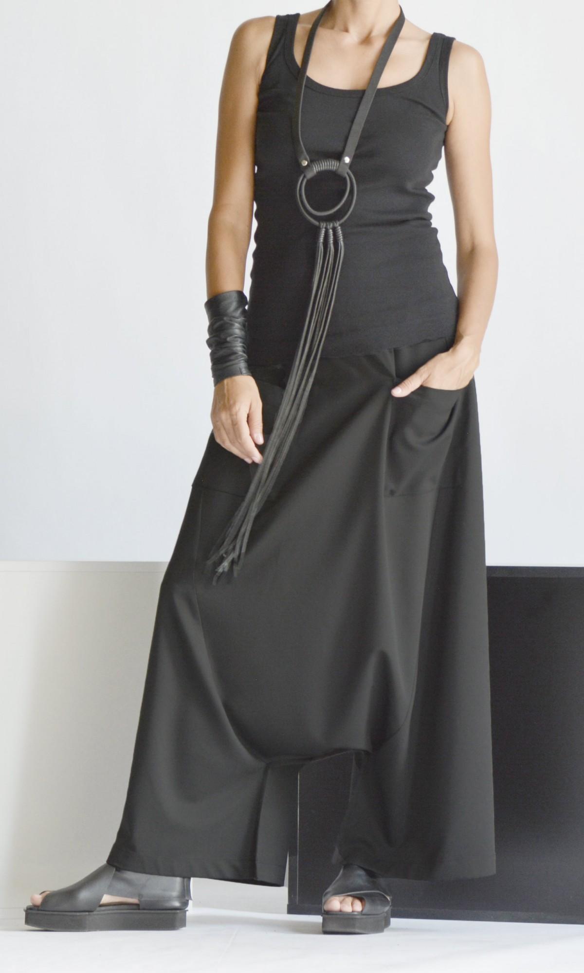 Elegant Deep Drop Crotch Pants A90509