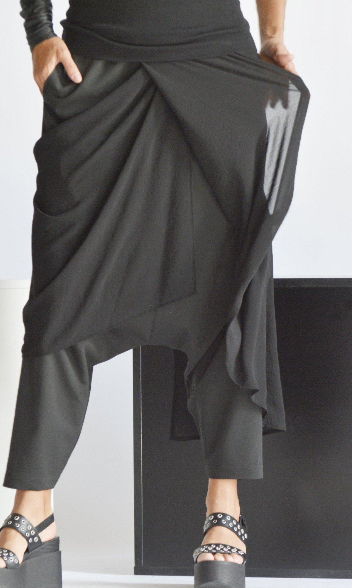 Elegant Draped Drop Crotch Pants A90510