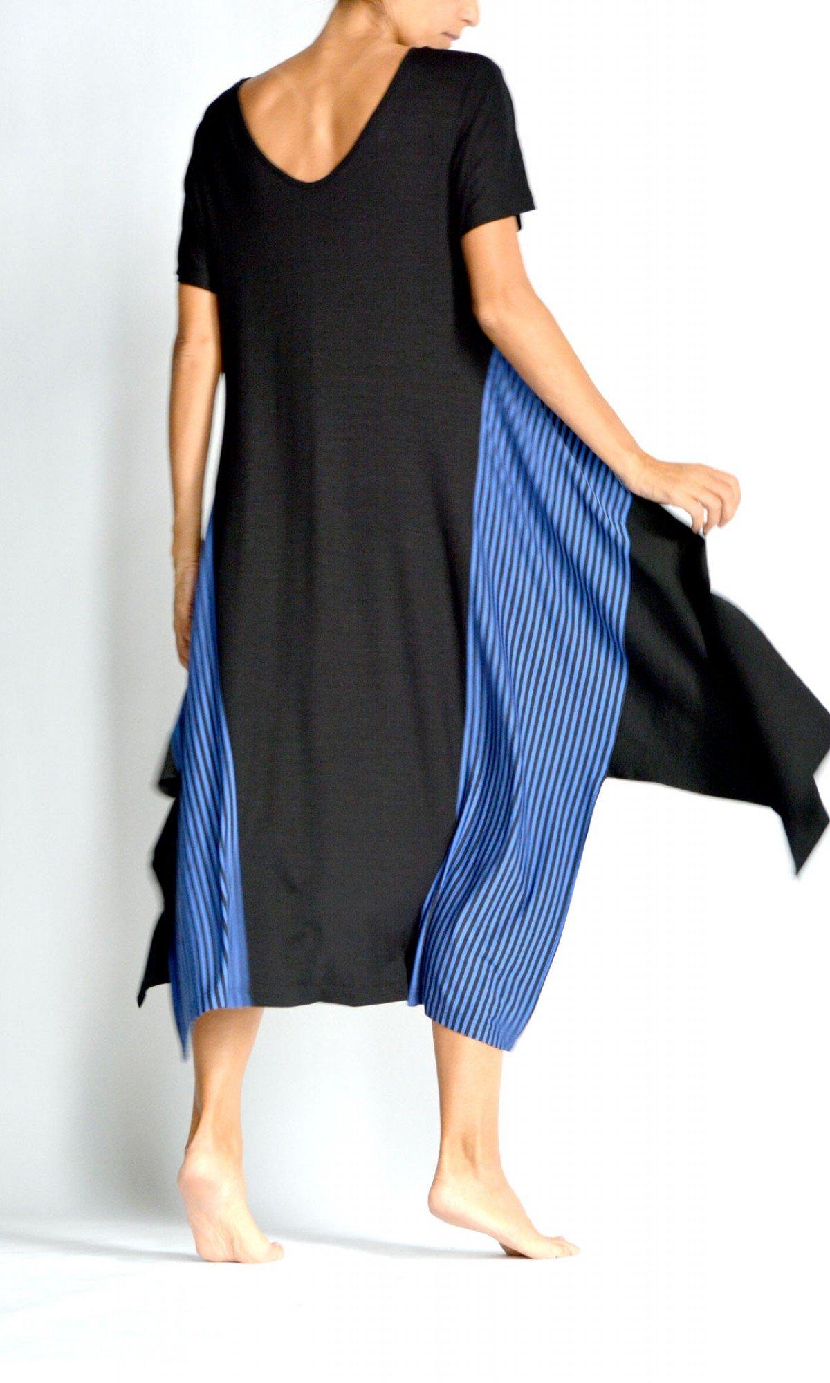 Asymmetric Short Sleeve Dress A90522