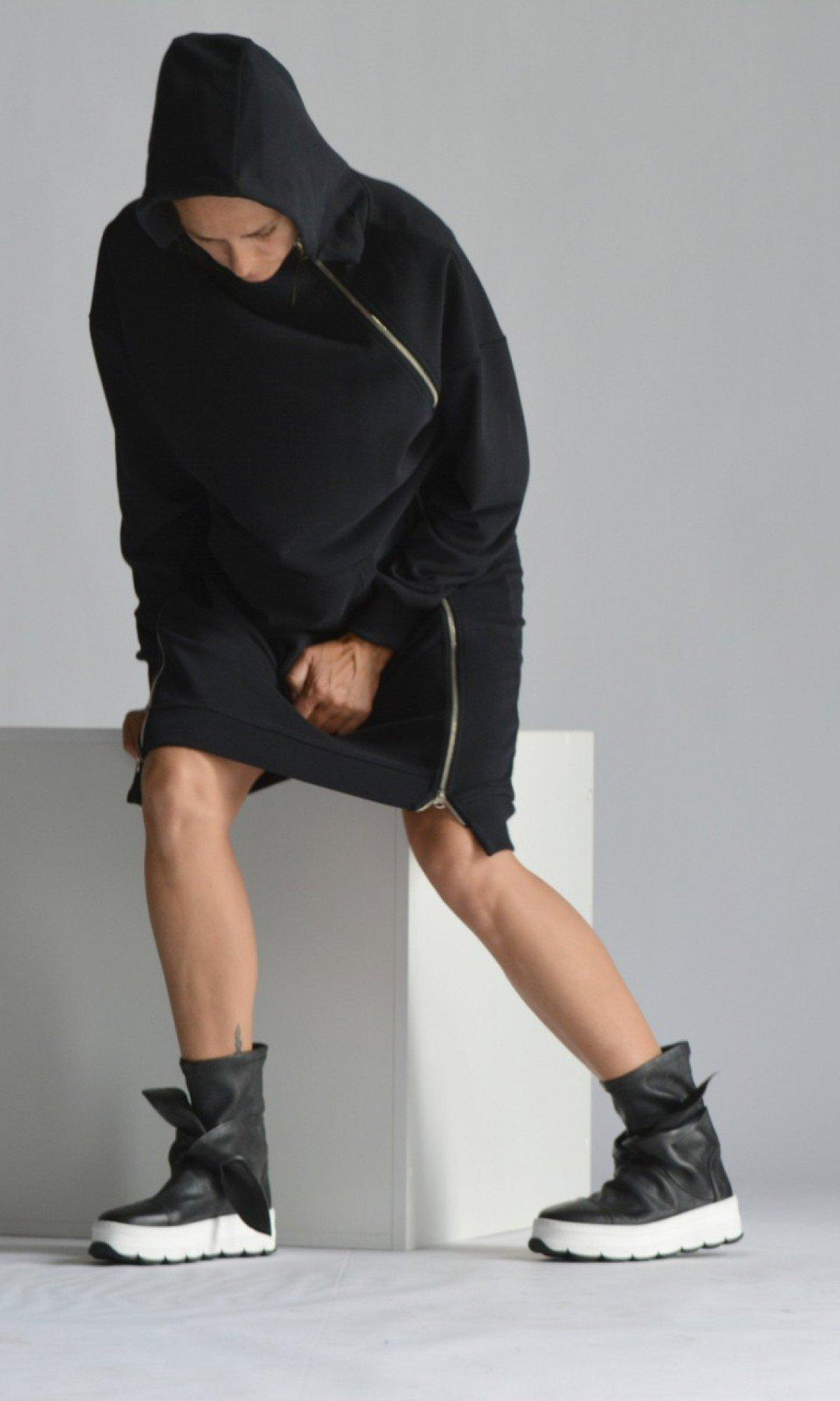 Extra Long Hoodie Dress A90499