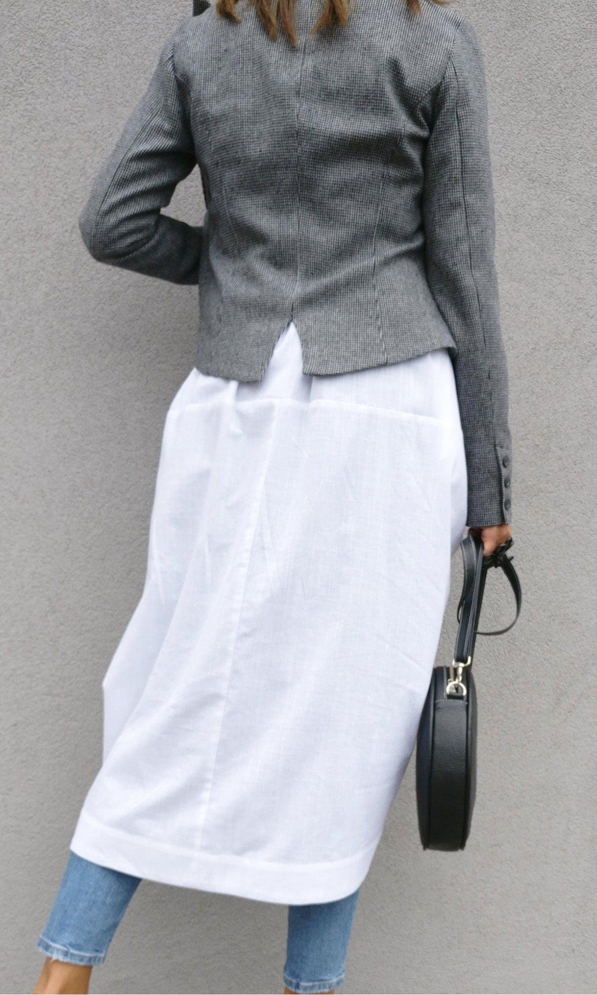 Elegant Draped front Linen Shirt A90488