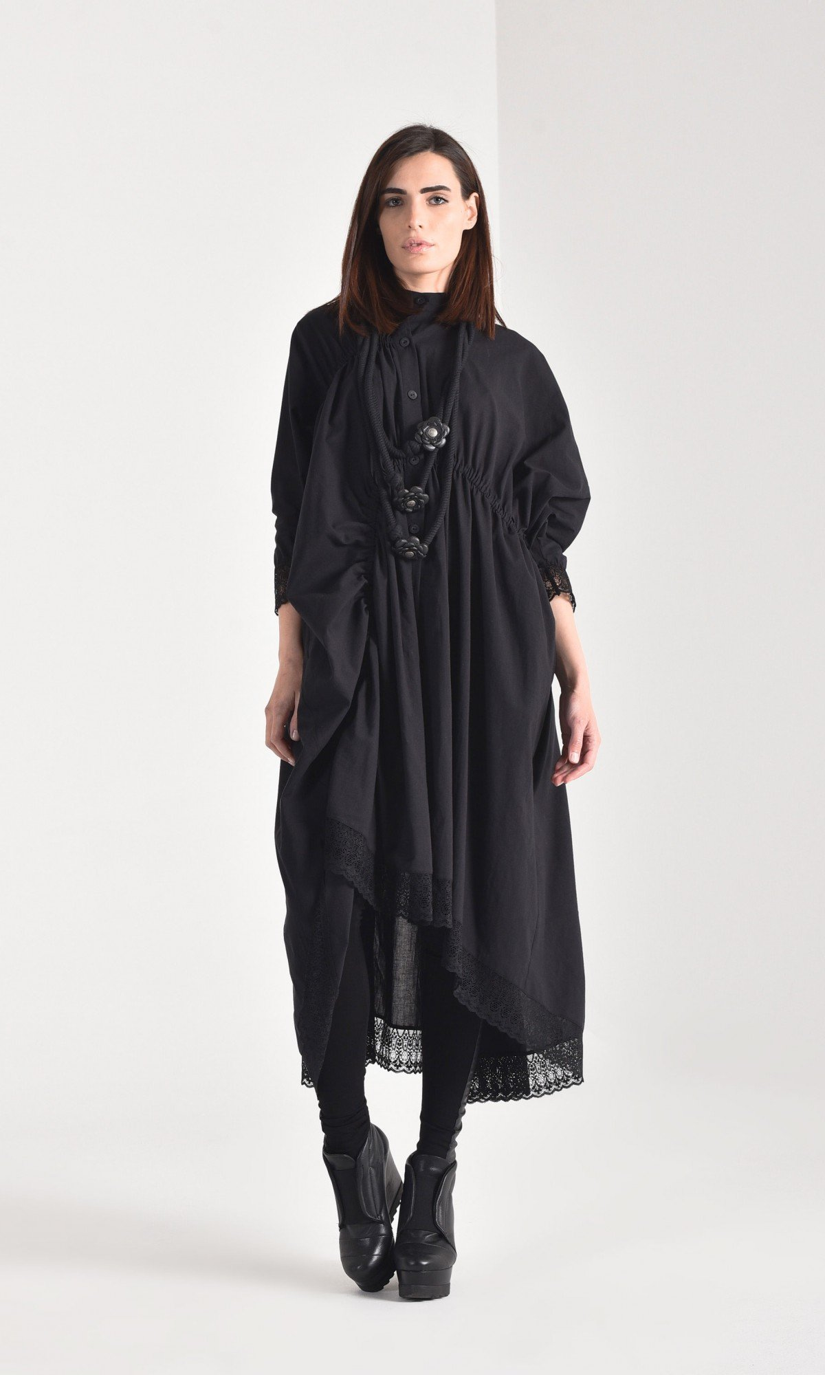 Elegant Maxi Cotton Shirt A90355