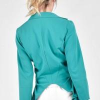 Extravagant Poly-viscose Buttoned Blazer A10763