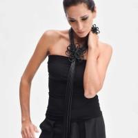 Elegant Leather Flower Ring A90602