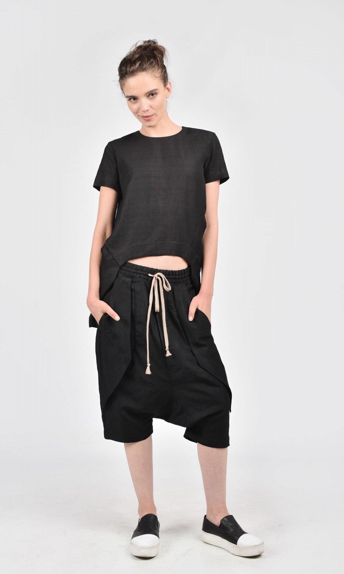 Short Drop Crotch Harem Pants A05462
