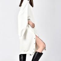 Sweatshirt buttoned Dress A08703