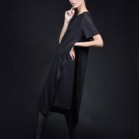 Short sleeve two Layer Dress A90605