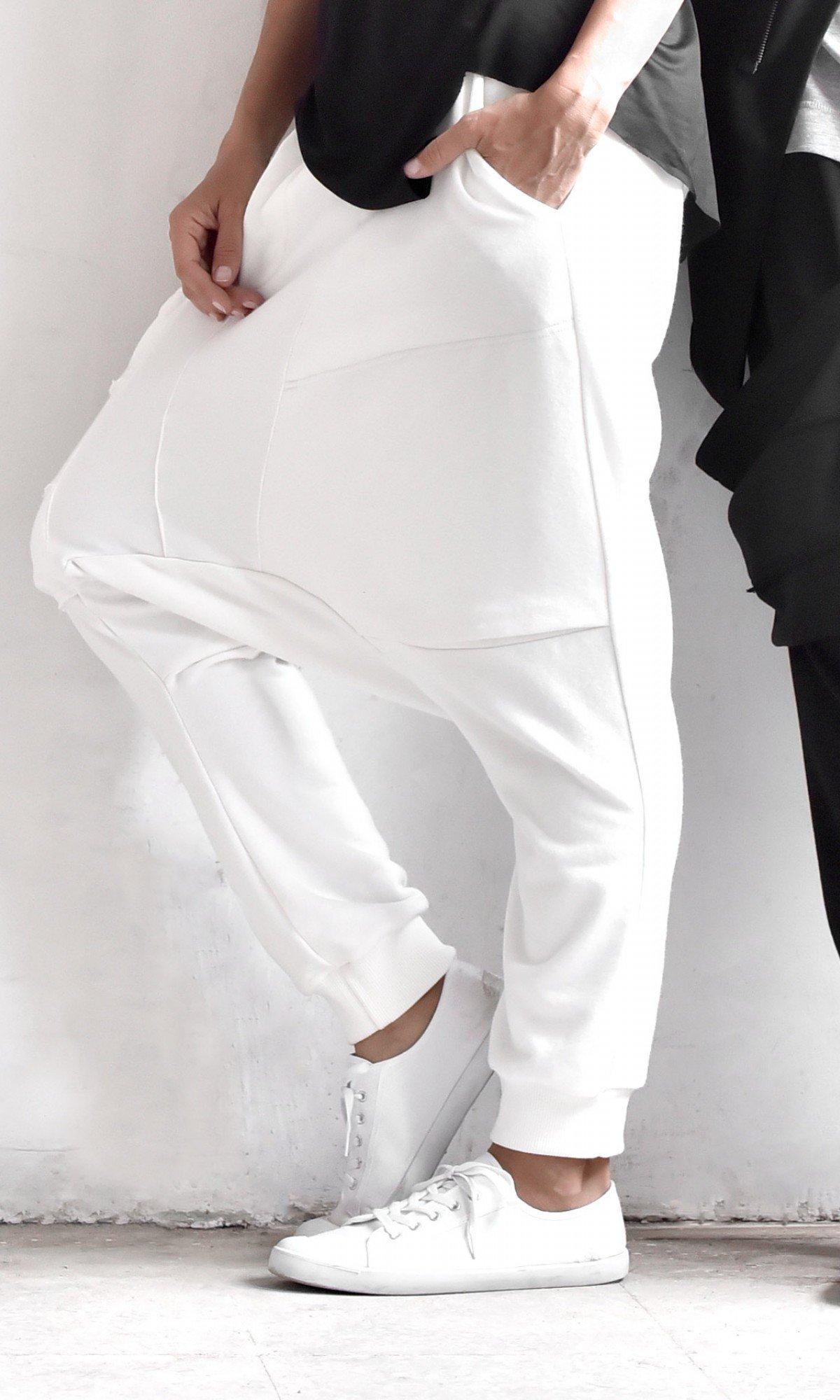 Loose Casual Drop Crotch Pants A05899