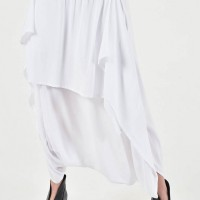 Elegant Drop Crotch Skirt Pants A09791