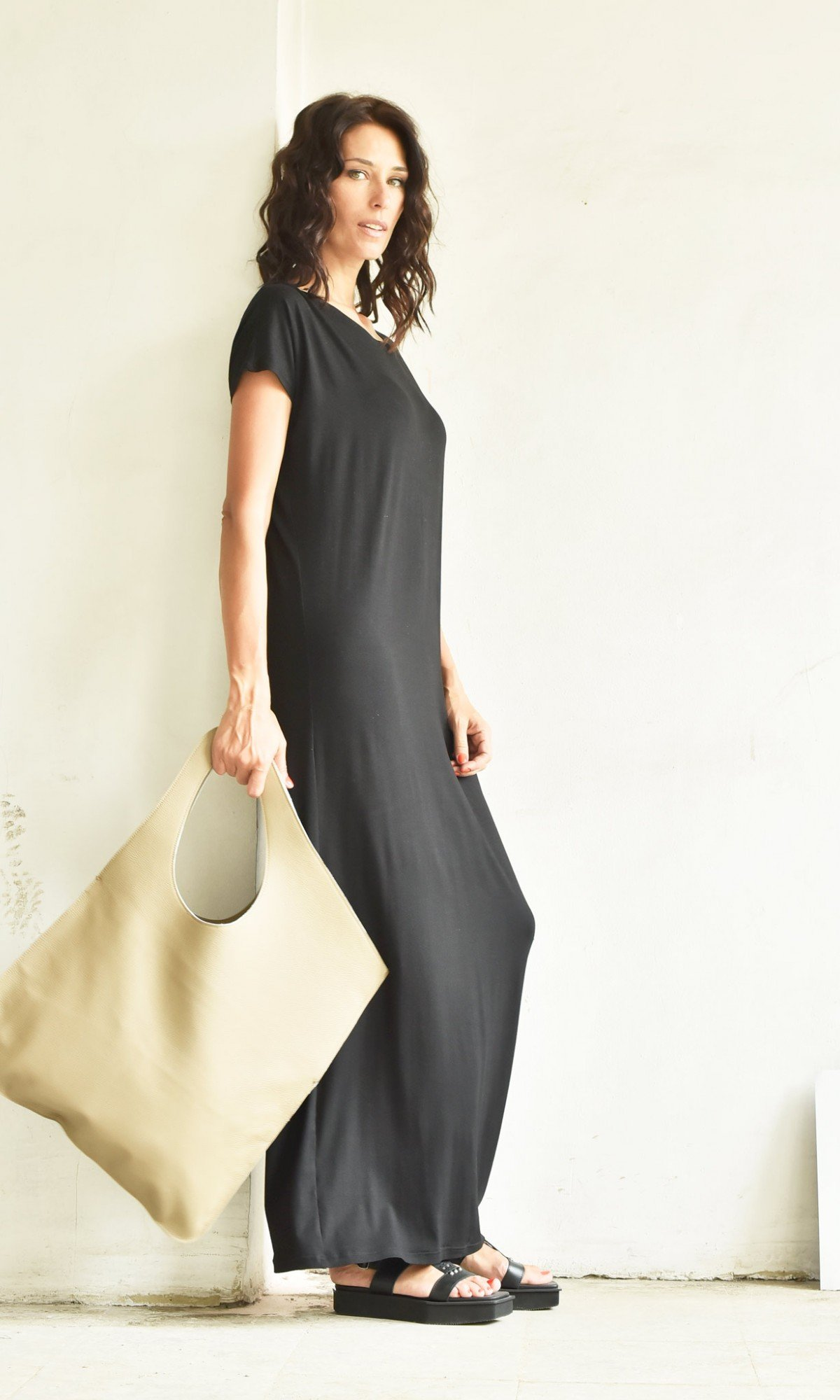 Very Elegant One Sleeve Maxi Dress A03014