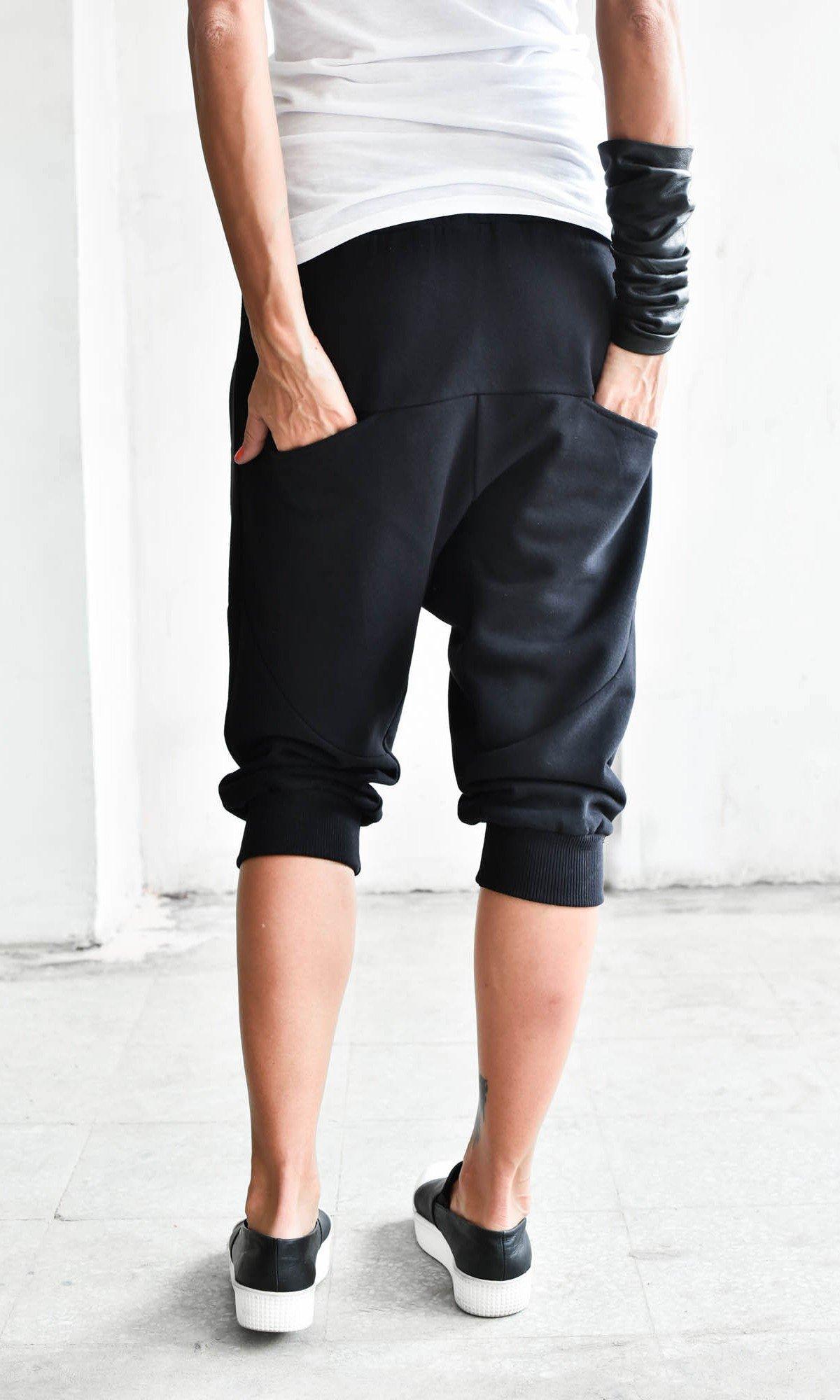 Drop Crotch Capri Pants