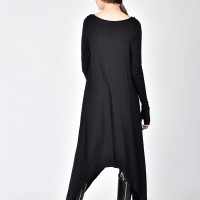Black Loose Tunic Dress A03535