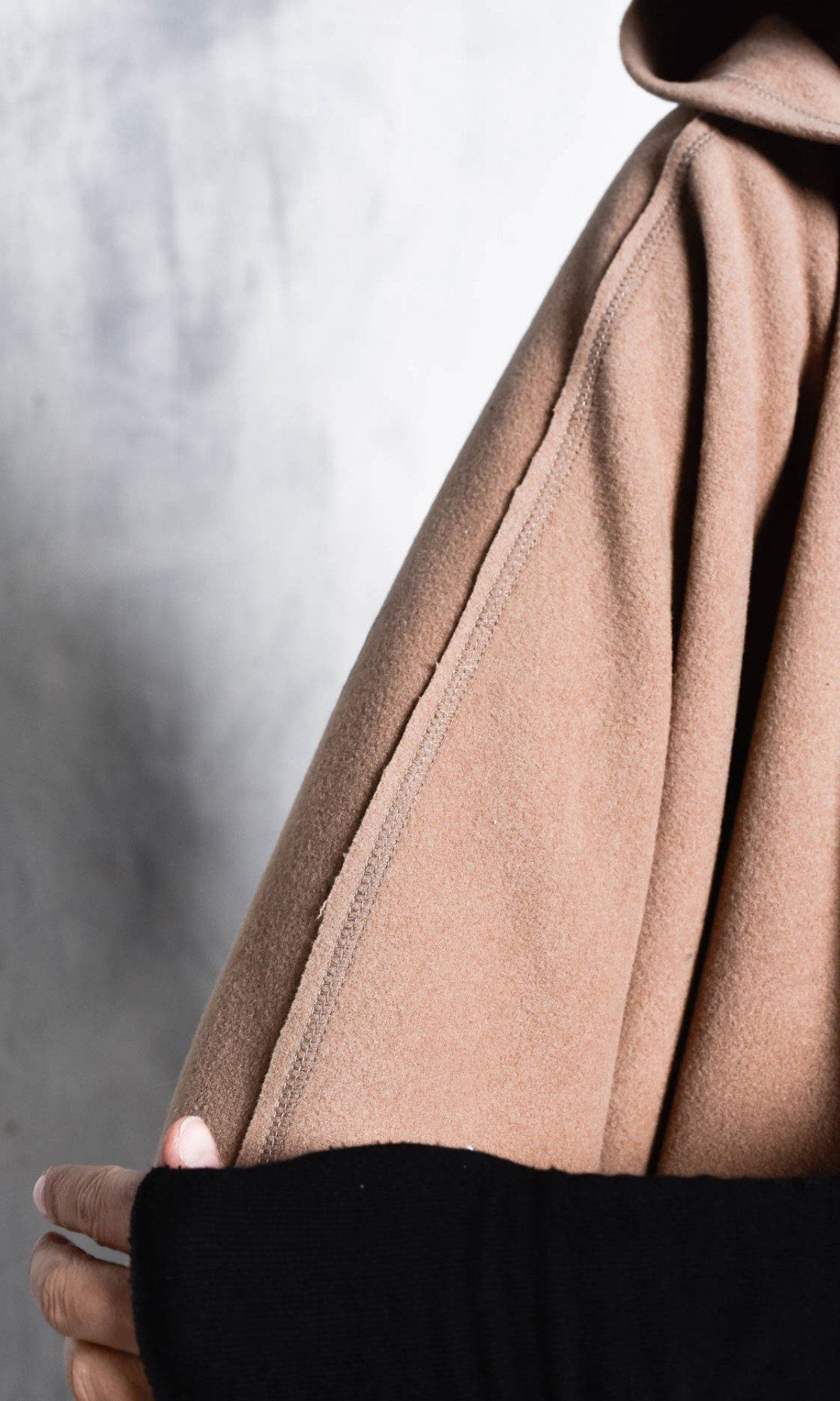 Hooded Cashmere Poncho Coat
