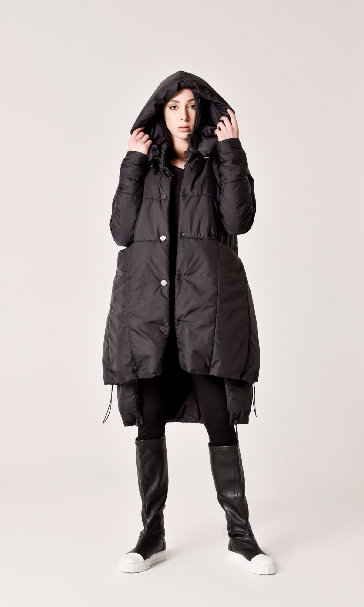 Multi functional winter buttoned jacket A90445
