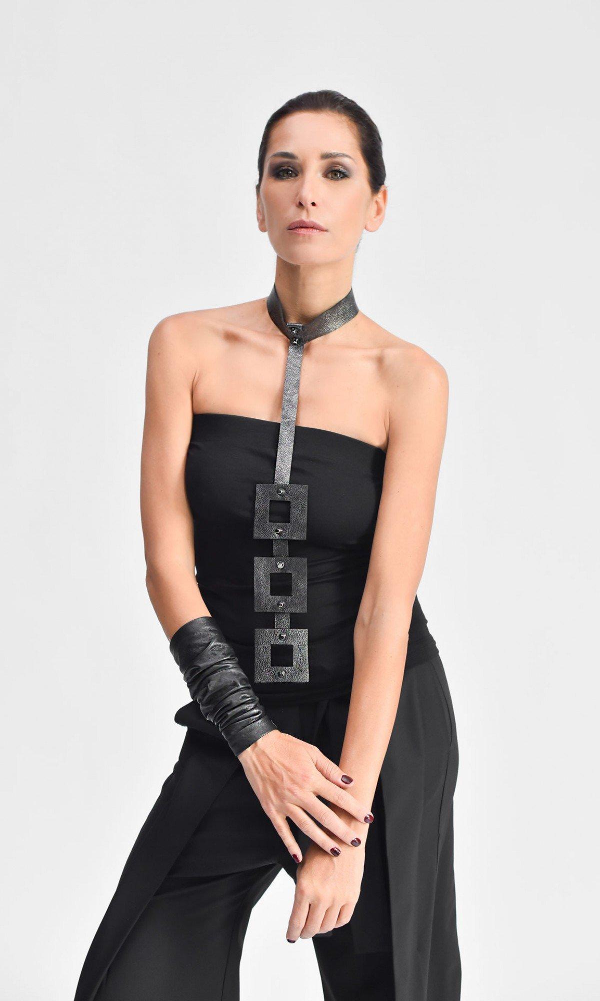 Trendy Geometric choker necklace A16858