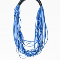 Royal Blue Extravagant Genuine Leather Necklace A16491