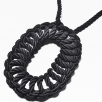 Extravagant Black Rope Necklace