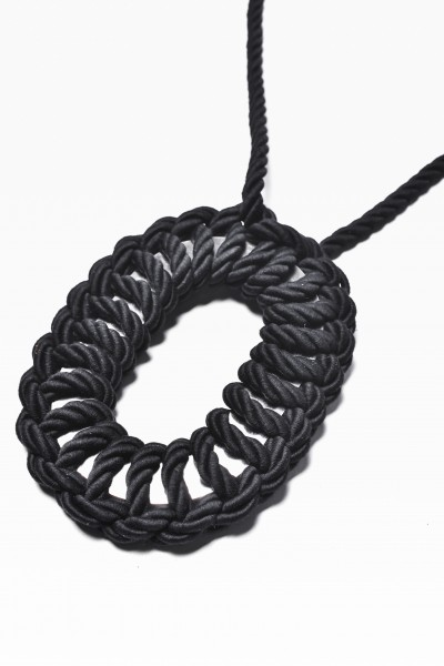 Extravagant Black Rope Necklace A16524