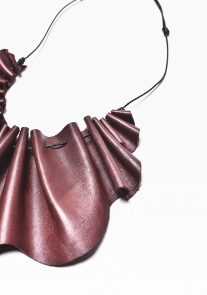 Leather Round Collar Necklace А16646