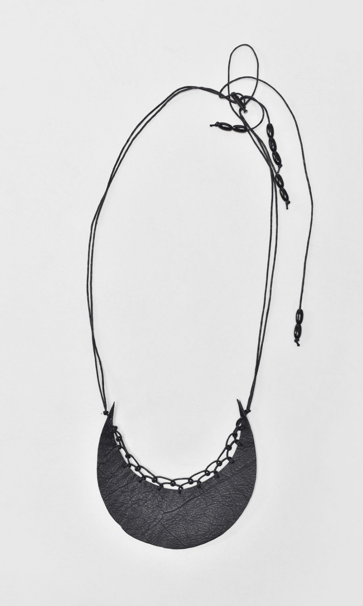 Leather Figurative Sewed Necklace A16683