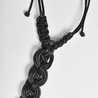 Extravagant Leather Knitted Necklace A90130