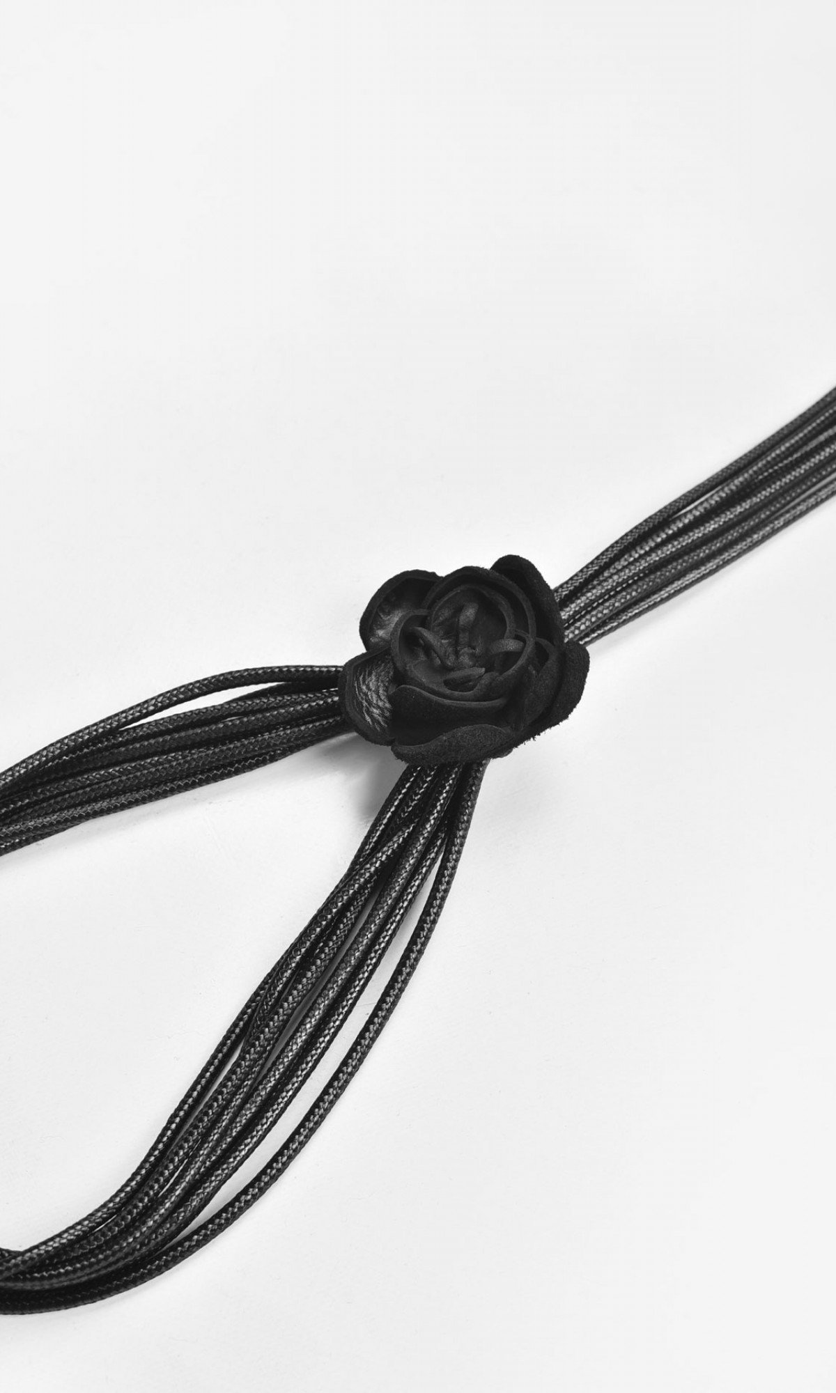 Leather Rose Minimal Necklace A90159