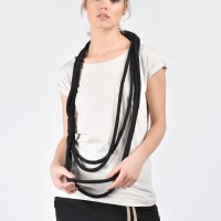 Extravagant Black Rope Necklace A90161