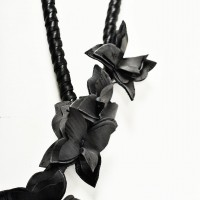 Elegant Butterfly Leather Necklace A90172