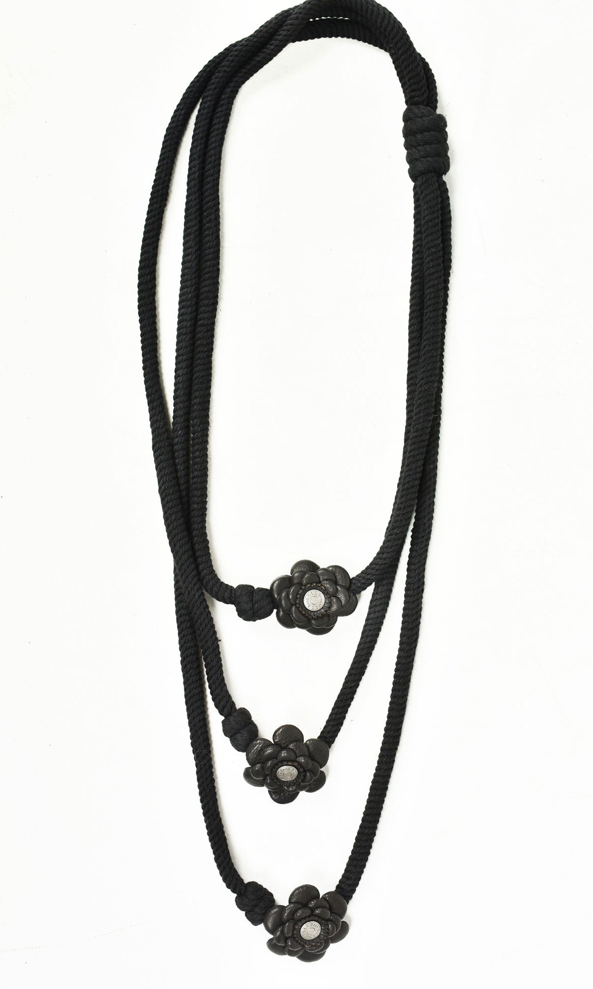 Little flowers Leather Necklace A90176
