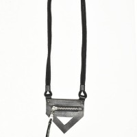 Triangle Zipper Leather Necklace A16716