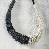 Beautiful Two Colour Leather Necklace A90225