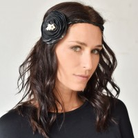 Leather flower headband A90302