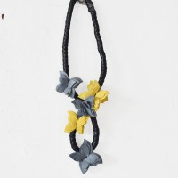 Beautiful Butterfly Leather Necklace A90303