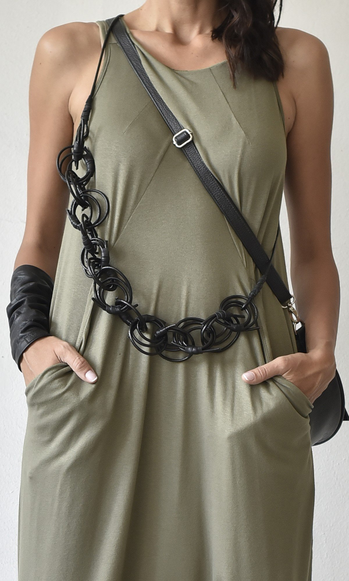 Trendy Multi way Leather necklace A16844