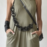 Trendy Multi way Leather necklace A90316
