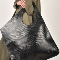 Large Extravagant Croco Genuine Leather Bag A14259