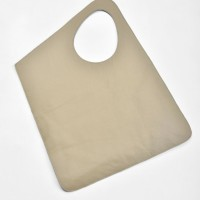Large Extravagant Taupe Leather Bag A14176