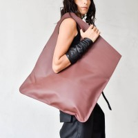 Large Extravagant Burgundy genuine leather Bag A14176