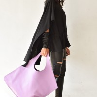 Large Extravagant Light Purple genuine leather Bag A14176