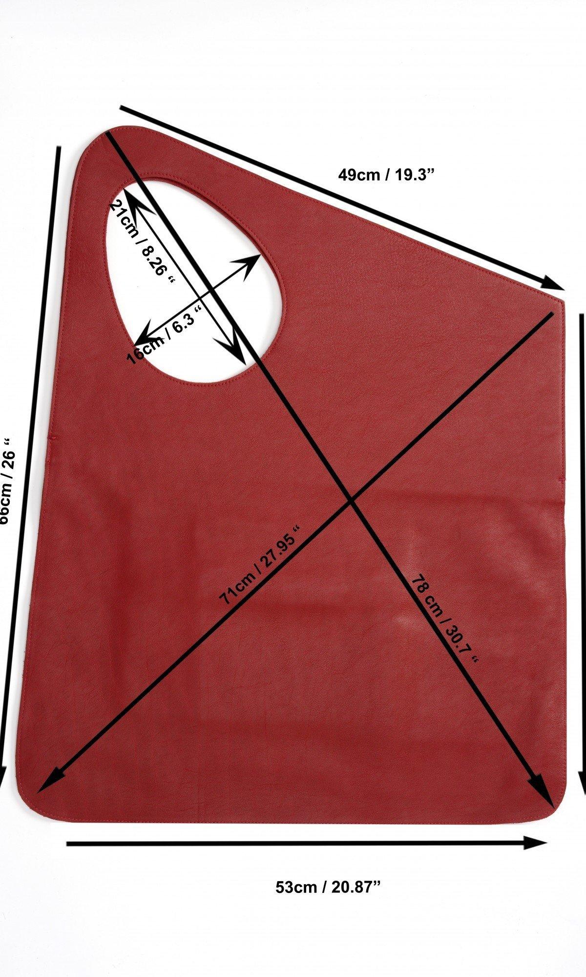 Large Genuine Leather Matt Bag A14552