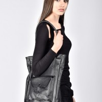 Genuine Leather Black Tote Bag A14253