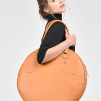 Amber Genuine Leather Big Circle Bag A14318