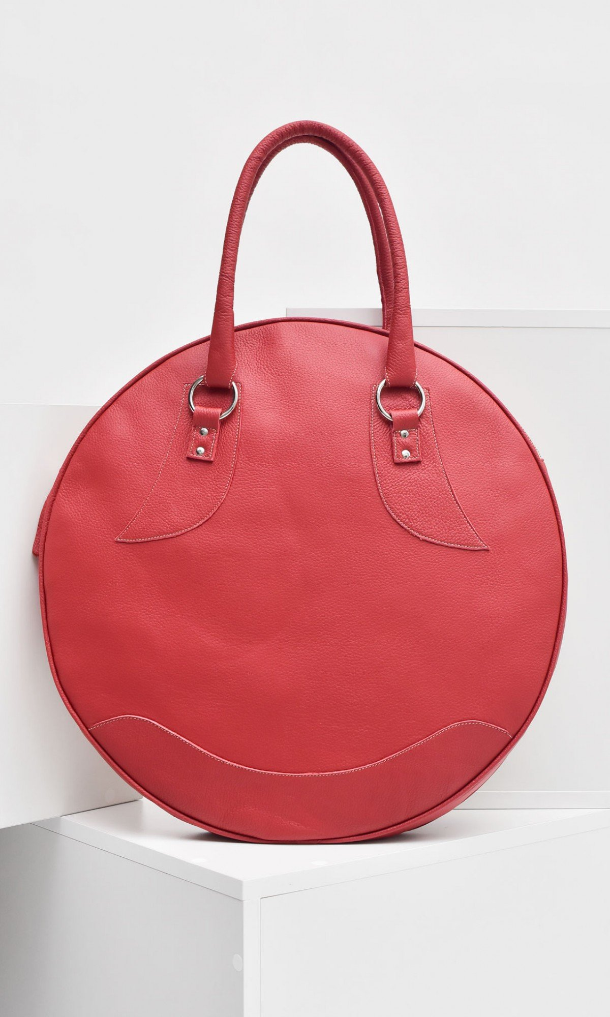 Genuine Leather Big Circle Bag A14318