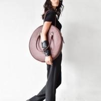 Oversized Circle Burgundy Large Bag A14318